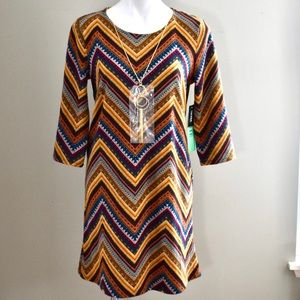 Tacera trapeze dress 3/4 sleeve size petite med